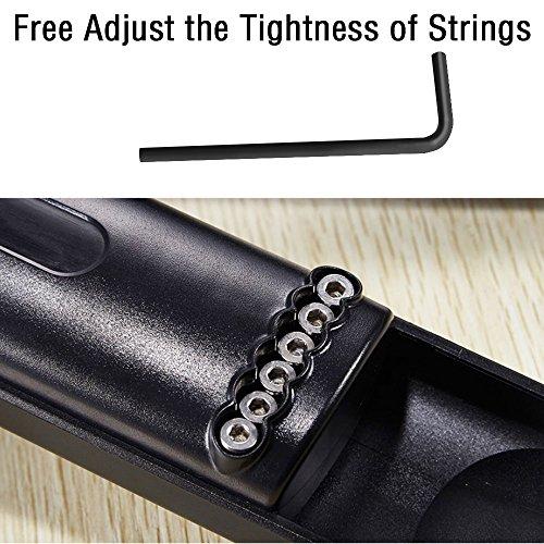COWEEN Pocket Guitar 6 Strings Portable Guitar Practice Gadgets 6 Fret Pocket Strings for Beginners