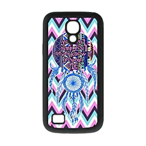 Chevron Aztec Tribal Dream Catcher Inspirational Quote Rubber Cover Case for SamSung Galaxy S4 Mini i9192/i9198