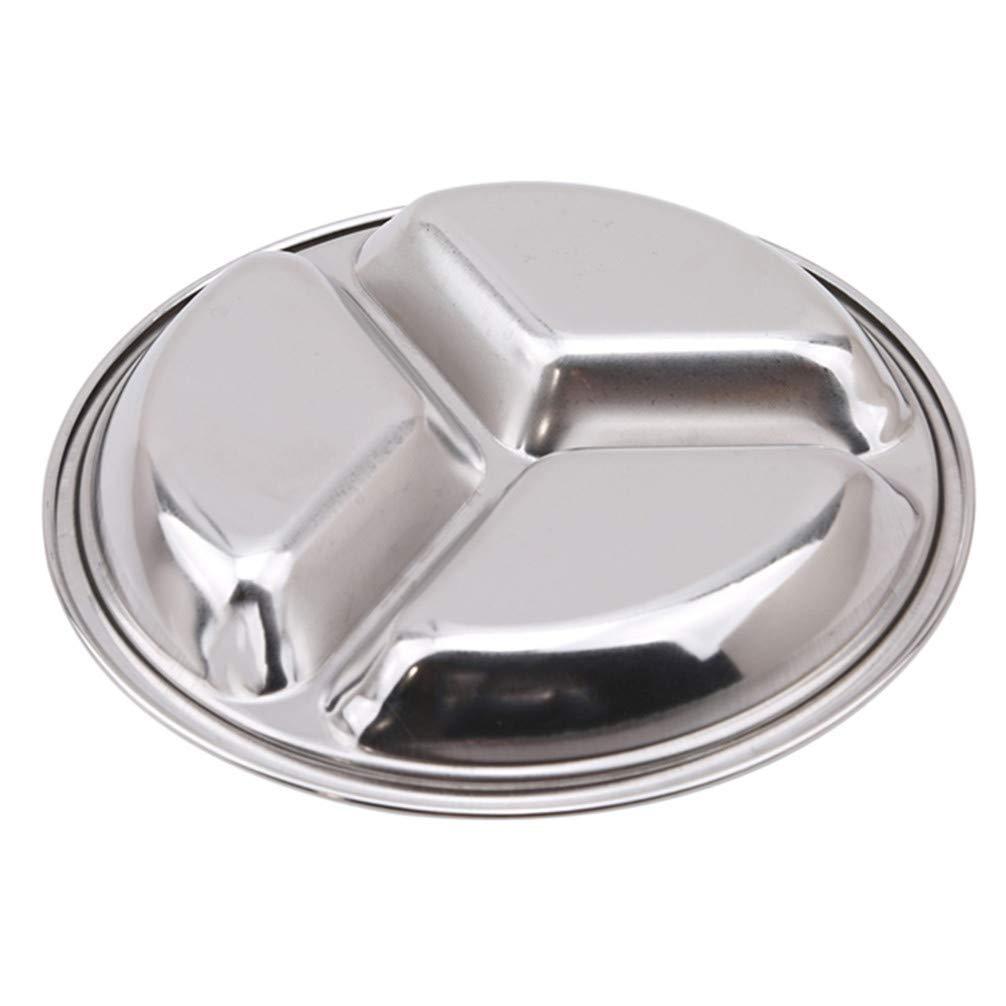 Ogquaton Assaisonnement de cuisine en acier inoxydable Petit plat de sauce de soja Plateaux de vaisselle Vaisselle Vinaigre Sauce Plat Durable et utile