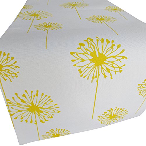 Yellow Dandelion Table Runner - Crabtree Collection (12 x 72) by Crabtree Collection