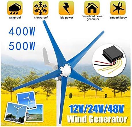 400W / 500W 12/24 / 48V Wind-Turbinen Mit Horizontaler Achse 5 Klingen Generator AC Permanent Haushalt Generator Boot, Lichter (Specification : 500W 24V)