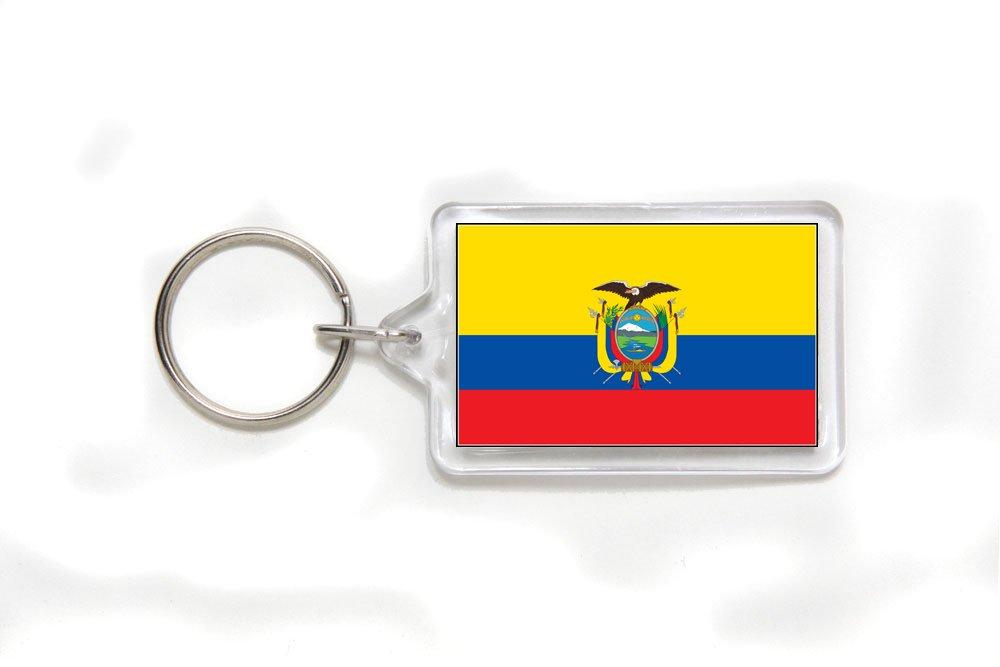 Ecuador Ecuadorian Flag Double Sided Acrylic Key Ring Small
