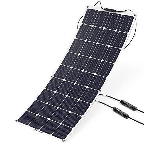 - ALLPOWERS 18V 12V 100W Solar Panel Charger Monocrystalline Lightweight Flexible with MC4 Connector Charging for RV Boat Cabin Tent Car (Compatibility with 18V and Below Devices)