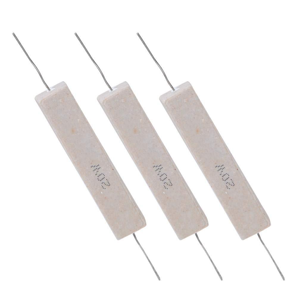 2.2R Componente elettronico di resistenza di potenza di alta precisione /± 5/% di resistenza del cemento di 10pcs 20W