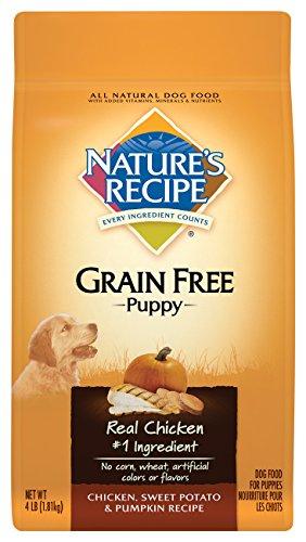 Nature's Recipe Grain Free Puppy Chicken, Sweet Potato & Pumpkin Recipe Dry Dog Food, 4-Pound