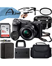$1019 » Sony Alpha a6400 Mirrorless Digital Camera 24.2MP Sensor with 16-50mm Lens, SanDisk 32GB Memory Card, Case, Tripod and A-Cell Accessory Bundle (Black)