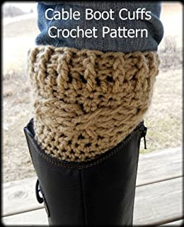 Amazoncom Cable Boot Cuff Crochet Pattern Ebook Sharon Santorum