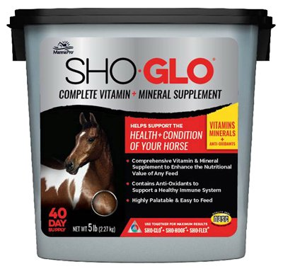 Manna Pro 1000078 Sho Glo Equine Vitamin & Mineral Supplement, 5-Lbs. - Quantity 4 by Manna Pro