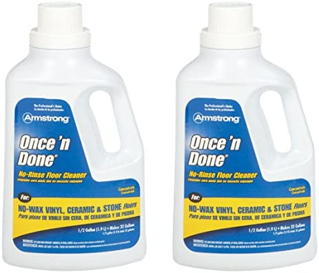 Armstrong 330806 Armstrong Once N Done Cleaner Concentrate 1 2 Gallon 64oz 2 Pack Multicolor