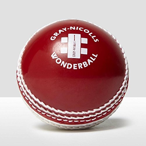 (GRAY-NICOLLS Wonderball Swing Cricket Ball , Red/White, Senior)