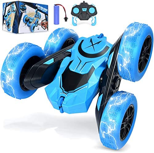 Stunt RC Car Remote Control Car NQD Double Sided Rotating Tumbling 2.4GHz 4 wheel drive Off Road Toy Car 2.4Ghz Radio Remote Control Car 4 wheel drive High Speed Racing All Terrain Climbing Car Gift for Boys