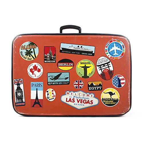 Wall4Stickers® Luggage Stickers Suitcase 17x Patches Vintage Travel Labels Retro Vintage Graffiti iPhone car stickerbomb Style Vinyl Decals Door Skateboard Cafe