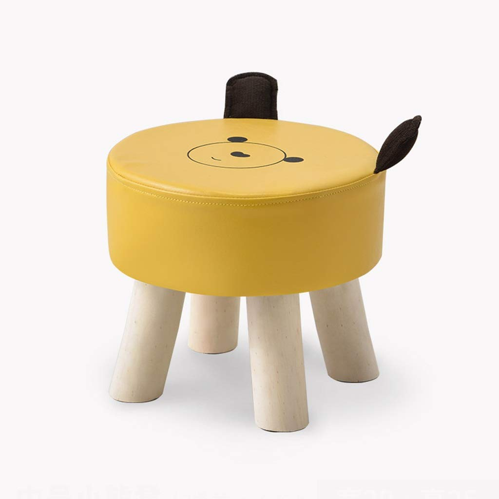 CHY Kids Cartoon Stool Chair Boys Girls Footstool for Preschool, Daycare, Bedroom, Playroom, Nursery Seat (Color : Yellow) by CHYfootstools