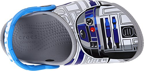 Image of crocs Boys' Crocsfunlab R2D2 Clog, Ocean/Light Grey, 4 M US Toddler
