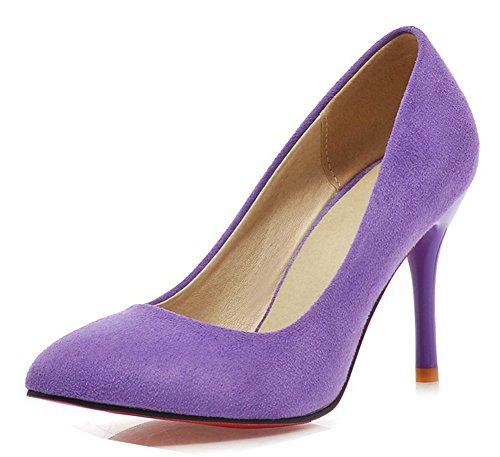 Talon Stable Aisun Aiguille 10cm Unie Violet Haut Femme Couleur Escarpins xZwqqS