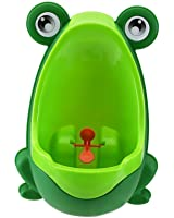 Vktech Cute Frog Potty Training Urinal for Boys Green