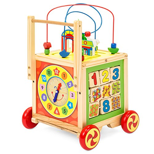 Best Choice Products 5-in-1 Educational Wooden Toy Bead Maze Learning Activity Cube Set by Best Choice Products (Image #2)