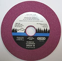Oregon Chain Sharpener Replacement Grinding Wheel - 18in. Thickness, For 14in., .325in.-pitch (33, 34, 35 Series Chains Only), Mini 38in.-pitch (90, 91 Series Chains Only)