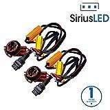 SiriusLED 3157 4157 3057 50W 6 Ohm LED Lights Load Resistor Adapter Fix Hyper Flashing Rapid Blinking Canbus Error Code Eliminator Warning Canceller for Turn Signal Reverse Backup Daytime Running DRL