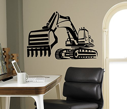 (Tractor Excavator Wall Vinyl Decal Farm Vinyl Sticker Kids Children Home Interior Removable Decor Housewares Design 18(tkr))
