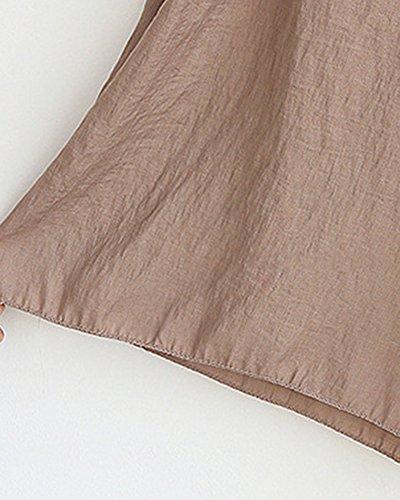 Kaki Plus Large Pour En Haute Taille Lin Femme Pantalon Décontracté SZTzX