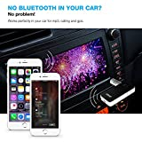Bluetooth Receiver, Portable Bluetooth Adapter / Car Kit, Portable Wireless Music Audio, Wireless Sound System, With Hands-Free Calling & Noise Cancellation, Bluetooth AUX Adapter - Vont