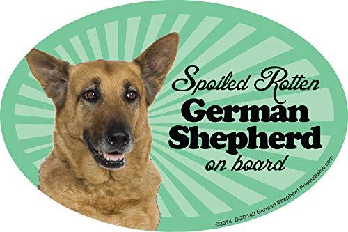 - Prismatix Decal German Shepherd Car Magnets: Spoiled Rotten German Shepherd - Oval 6