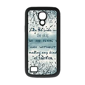 Be Free Birds Quote Protective Rubber Back Fits Cover Case for SamSung Galaxy S4 Mini i9192/i9198