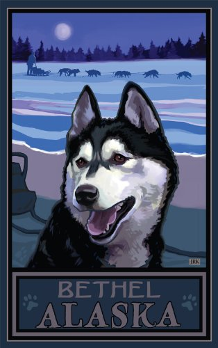 Northwest Art Mall Bethel Alaska Sled Dog Heritage Artwork by Joanne Kollman, 11 by - Mall Bethel Park