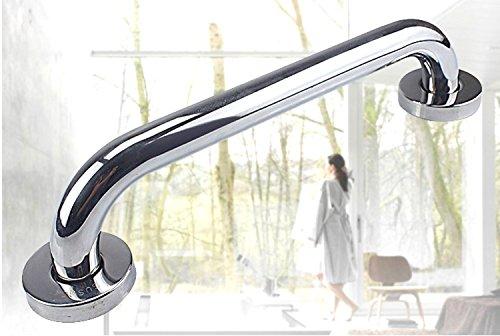 Stainless Steel Handrail Safety Grip Grab Bar Elderly Care Armrest for Toilet,Bathroom, Shower Room, Towel Rack (16-Inch, Silver) by kira-kira.world (Image #3)