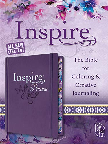 - Tyndale NLT Inspire PRAISE Bible (Hardcover LeatherLike, Purple): Inspire Coloring Bible-Over 500 Illustrations to Color, Creative Journaling Bible Space-Religious Gifts to Inspire Connection with God