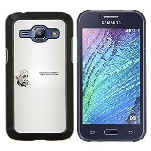 LECELL--Funda protectora / Cubierta / Piel For Samsung Galaxy J1 J100 -- Einstein Cita --