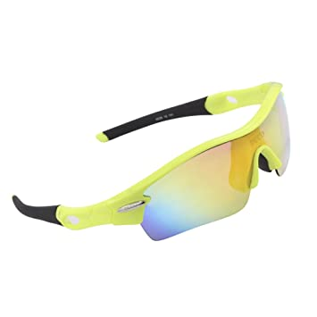 08af47c347b DUCO Polarized Sports Sunglasses with 5 Interchangeable Lenses UV400  Protection Sports Sunglasses for Cycling Running Glasses
