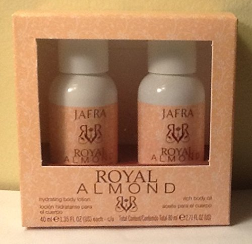 Jafra Royal Almond Body Lotion and Rich Body Oil.travel SET