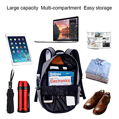 c4791fd68e78 Laptop Backpack-Beyle Anti-Theft Water Resistant Travel Laptop Backpack  with USB Charging Port