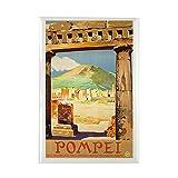 "CafePress Pompei Italy ~ Vintage Travel Rectangle Magnet, 2""x3"" Refrigerator Magnet"