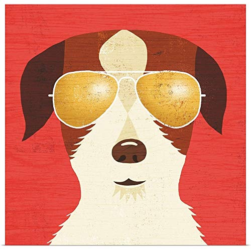 GREATBIGCANVAS Poster Print Entitled Beach Bums Terrier I by Michael Mullan 35