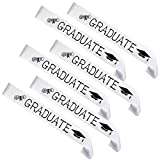 FEPITO 6 Pack Graduation Sash White Unisex Satin Sash Prom Graduation Celebration Party Supplies...