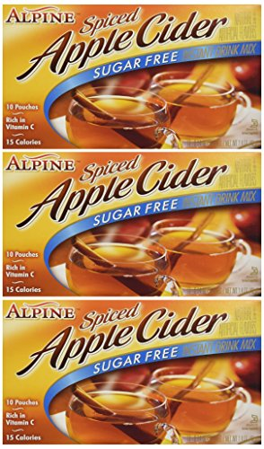 Alpine, Spiced Cider, Sugar Free Apple Flavored Drink Mix, 1.4oz Box (Pack of 3) - Hot Spiced Apple