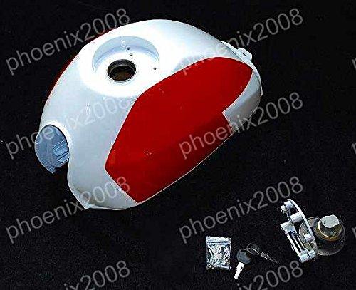 1201 モンキー ゴリラ APE 9.5L 角型 燃料 ビッグ タンク 赤/白   B01CHPKZK0