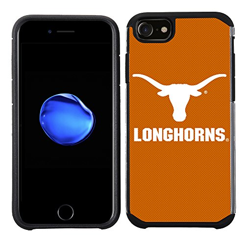 Texas Longhorns Fan - Prime Brands Group Textured Team Color Cell Phone Case for Apple iPhone 8/7/6S/6 - NCAA Licensed University of Texas Longhorns