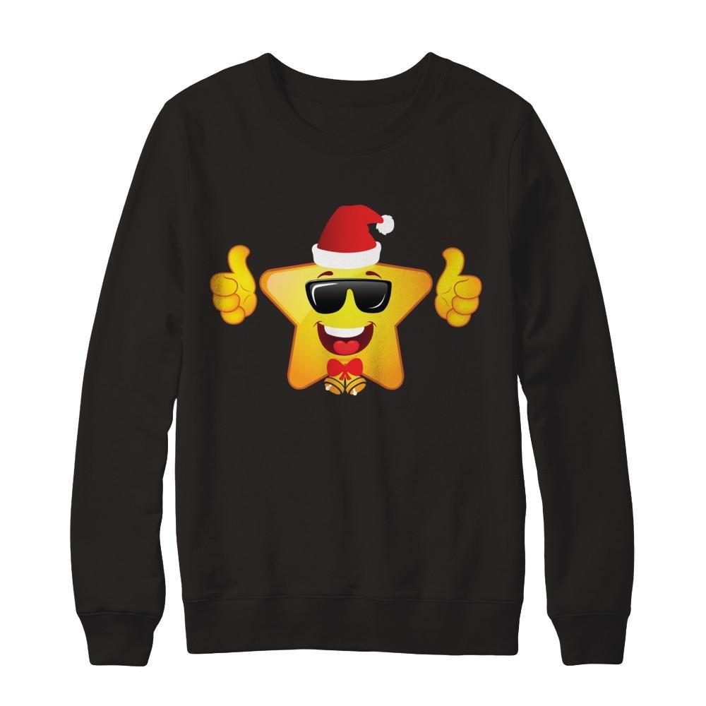 Pullover Sweatshirt Teely Shop Women/'s ands/_Santa Cool Sunglasses Funny Christmas Gildan