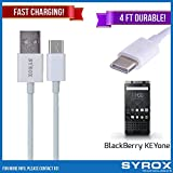 Syrox 50-Pack USB Type-C Cable, Reversible 4 ft Ultra Durable Fast Charging for BlackBerry KEYone, Samsung Galaxy Note 8, S8 Plus, LG V30, V20, G6, G5, Google Pixel, 6P, Nintendo Switch and All