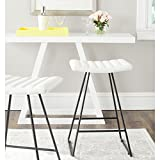 Safavieh Home Collection Akito Mid-Century Modern White 26-inch Counter Stool (Set of 2)