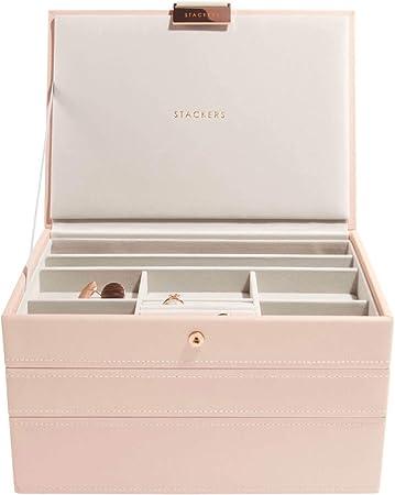 StackersClásica Caja de Joyería Blush - 3: Amazon.es: Juguetes y ...
