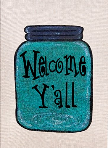 Dyrenson Home Decorative Outdoor Double Sided Mason Jar Gard