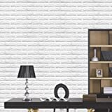 3D White Brick Wallpaper, NOPTEG 3D PE Foam DIY