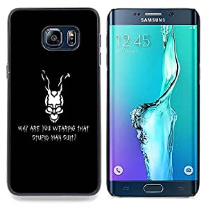 Jordan Colourful Shop - Why Are You Warring That Stupid Man suit For Samsung Galaxy S6 Edge Plus - < Personalizado negro cubierta de la caja de pl??stico > -