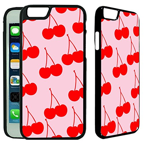 [[TeleSkins] - Cherry Pattern - iPhone 6 / iPhone 6S Plastic Case - Ultra Durable Slim & HARD PLASTIC Protective Slim Snap On Designer Back Case / Cover for Girls. [Fits iPhone 6 & 6S (4.7] (Cherry Apple Costumes)