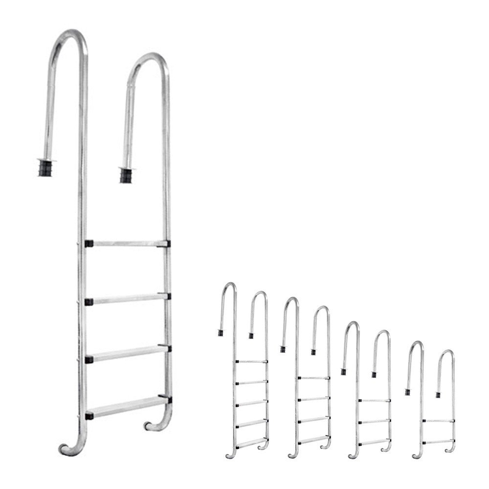 Stainless Steel 304 Swimming Pool Ladder In Pool Ladder 2-5 steps V2Aox, Number of steps:3-step (158 x 50 cm)